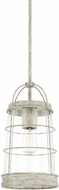 Capital Lighting 327411MS Beaufort Contemporary Mystic Sand Mini Hanging Lamp