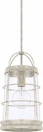 Capital Lighting 327412MS Beaufort Contemporary Mystic Sand Mini Pendant Light Fixture