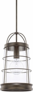 Capital Lighting 327412NG Beaufort Modern Nordic Grey Mini Pendant Lighting Fixture