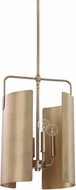 Capital Lighting 327741AD Wells Contemporary Aged Brass Mini Pendant Hanging Light