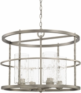 Capital Lighting 327941AN-460 Wallace Contemporary Antique Nickel Drum Drop Ceiling Lighting