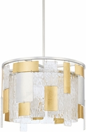 Capital Lighting 328341MX Contemporary Mixed Metal Drum Drop Ceiling Light Fixture