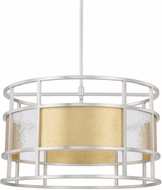 Capital Lighting 328342MX Modern Mixed Metal Drum Drop Lighting Fixture