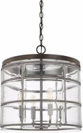 Capital Lighting 329441UG Colby Modern Urban Grey Drum Pendant Lamp