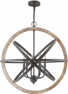Capital Lighting 330561IW Contemporary Iron and Wood Drop Lighting Fixture