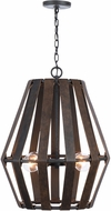 Capital Lighting 330741RI Walker Modern Rustic Iron Lighting Pendant