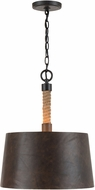 Capital Lighting 330742RI Walker Contemporary Rustic Iron Pendant Lamp