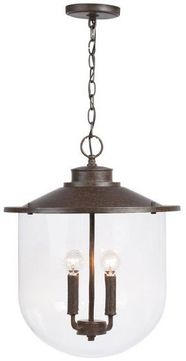Capital Lighting 330841MI Pawley Contemporary Mineral Brown Hanging Light
