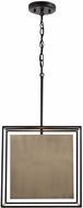 Capital Lighting 330911AB Paxton Modern Aged Brass and Black Pendant Light Fixture