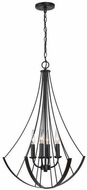 Capital Lighting 331941MB Modern Matte Black Ceiling Light Pendant
