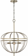 Capital Lighting 332041AD Fontaine Contemporary Aged Brass 19.5  Ceiling Pendant Light