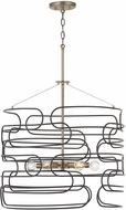 Capital Lighting 332161AB Arlo Contemporary Aged Brass and Black Drop Lighting Fixture