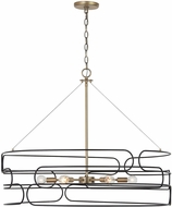 Capital Lighting 332162AB Arlo Modern Aged Brass and Black Pendant Lighting