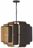 Capital Lighting 332541BD Contemporary Bronze and Gold Hanging Pendant Light