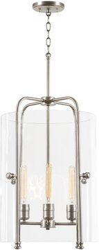 Capital Lighting 332941AN Webster Contemporary Antique Nickel Ceiling Pendant Light