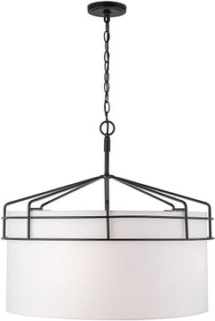 Capital Lighting 333041MB Palmer Contemporary Matte Black Drum Drop Lighting Fixture