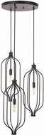 Capital Lighting 333231MB Nira Contemporary Matte Black Multi Pendant Lamp