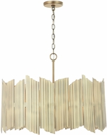 Capital Lighting 333441AD Xavier Modern Aged Brass Hanging Lamp