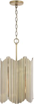 Capital Lighting 333461AD Xavier Contemporary Aged Brass Mini Hanging Light