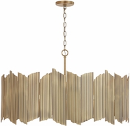 Capital Lighting 333462AD Xavier Modern Aged Brass Pendant Light Fixture