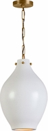 Capital Lighting 333812PA Modern Patinaed Brass Mini Hanging Pendant Light