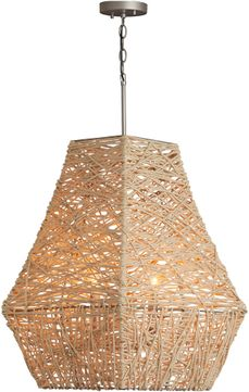 Capital Lighting 335241NY Contemporary Natural Jute and Grey Pendant Lighting