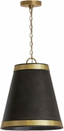 Capital Lighting 335631GB Contemporary Galvanized Black and True Brass Hanging Lamp