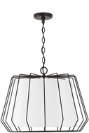 Capital Lighting 338841MB Corey Contemporary Matte Black Drum Drop Ceiling Lighting