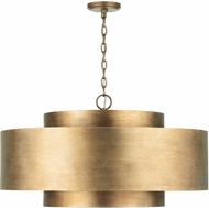 Capital Lighting 339091ML Jude Contemporary Mystic Luster Drum Hanging Light Fixture