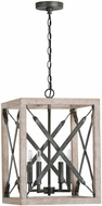 Capital Lighting 340441WN Remi Rustic Brushed White Wash and Nordic Iron Pendant Light
