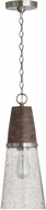 Capital Lighting 340511HN Connor Black Wash and Matte Nickel Mini Pendant Lighting