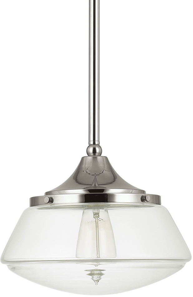 Polished Nickel Capital Lighting 1 Light Pendant 4432PN