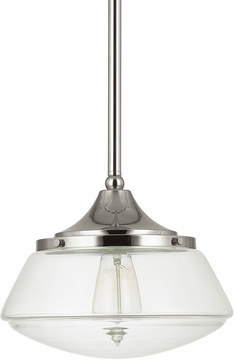 Capital Lighting 3531PN-134 Pendant Polished Nickel Mini Hanging Lamp