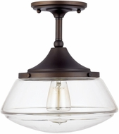 Capital Lighting 3533BB-134 Burnished Bronze Semi-Flush Ceiling Light Fixture