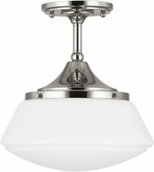 Capital Lighting 3533PN-129 Polished Nickel Semi-Flush Ceiling Lighting Fixture