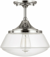 Capital Lighting 3533PN-134 Polished Nickel Semi-Flush Ceiling Light Fixture