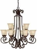 Capital Lighting 3582CB-287 Barclay Traditional Chesterfield Brown Chandelier Light