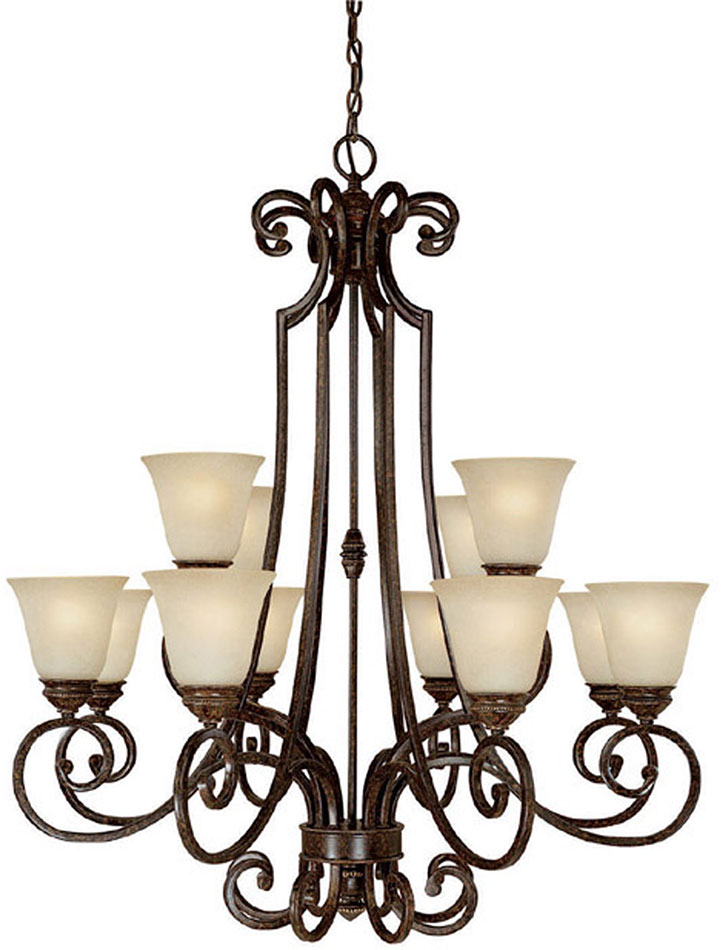 Capital Lighting 3582cb 287 Barclay Traditional Chesterfield Brown Chandelier Light