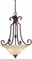 Capital Lighting 3584CB Barclay Traditional Chesterfield Brown Hanging Pendant Lighting