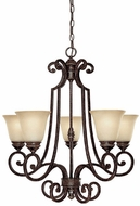 Capital Lighting 3585CB-287 Barclay Traditional Chesterfield Brown Hanging Chandelier