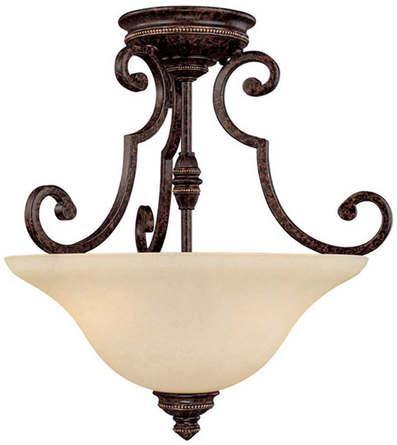 Capital Lighting 3588cb Barclay Traditional Chesterfield Brown Semi Flush Ceiling Light Fixture Loading Zoom