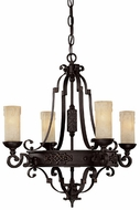 Capital Lighting 3604RI-279 River Crest Traditional Rustic Iron Mini Chandelier Lamp