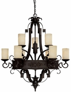Capital Lighting 3609RI-125 River Crest Traditional Rustic Iron Ceiling Chandelier