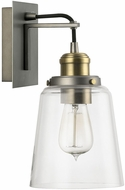 Capital Lighting 3711GA-135 Contemporary Graphite With Aged Brass Wall Lighting Sconce