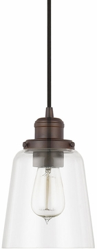 Capital Lighting 3718BB-135 Pendant Contemporary Burnished Bronze Mini Pendant Hanging Light