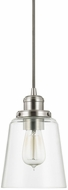 Capital Lighting 3718BN-135 Pendant Modern Brushed Nickel Mini Hanging Light Fixture