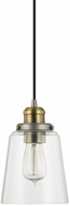 Capital Lighting 3718GA-135 Pendant Contemporary Graphite With Aged Brass Mini Drop Lighting