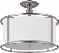 Capital Lighting 3914PN-459 Midtown Polished Nickel Semi-Flush Ceiling Light