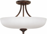 Capital Lighting 3947BB-SW Chapman Burnished Bronze Semi-Flush Flush Lighting