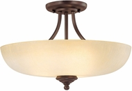 Capital Lighting 3947BB-TW Chapman Burnished Bronze Semi-Flush Flush Mount Lighting